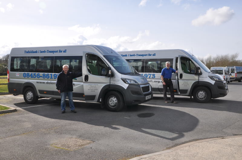 Volunteer drivers with minibuses